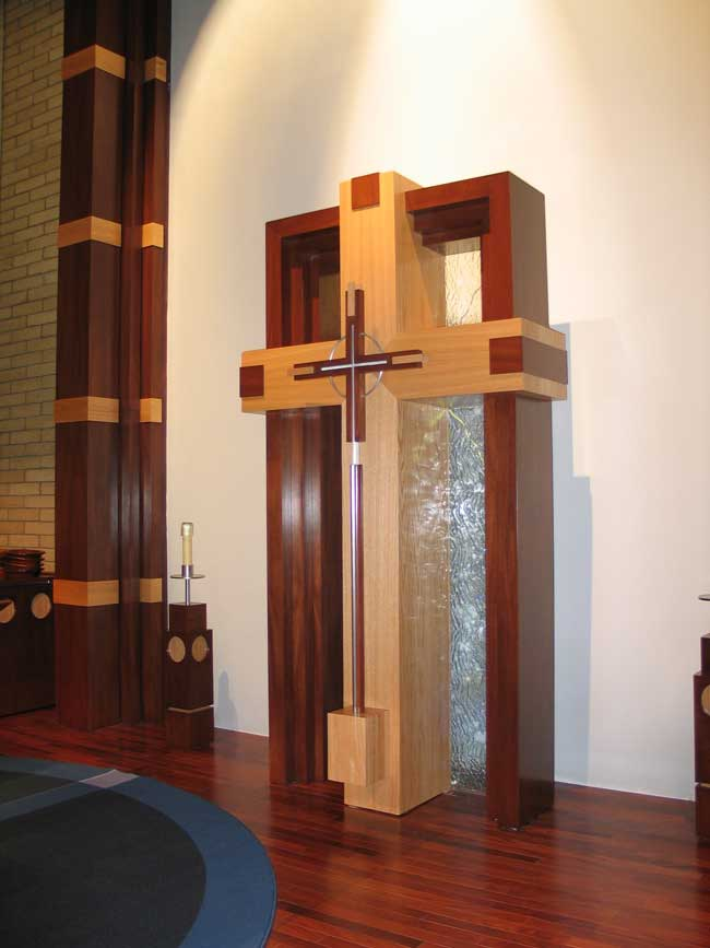 Custom cross with removable processional cross, King of Glory, Tempe, AZ