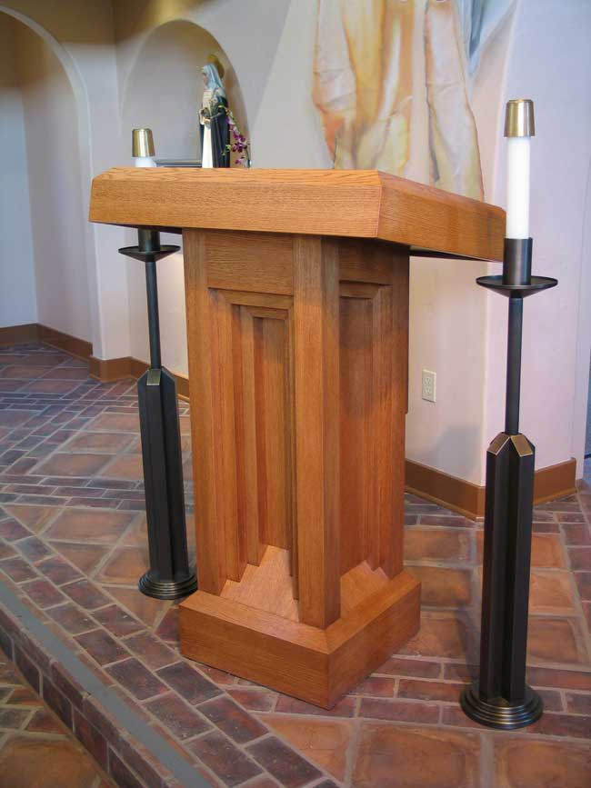 Custom pulpit, St. Catherines, Laguna Beach, CA