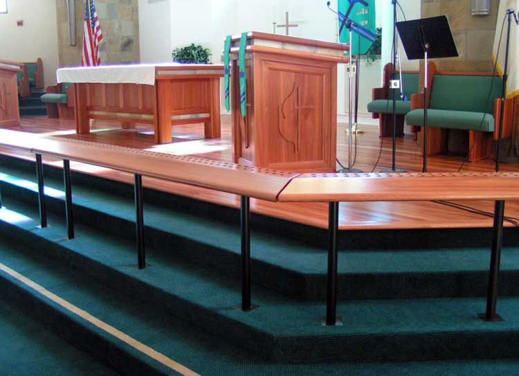 Custom lyptus communion table and pulpit, Vista United Methodist, Vista, CA.