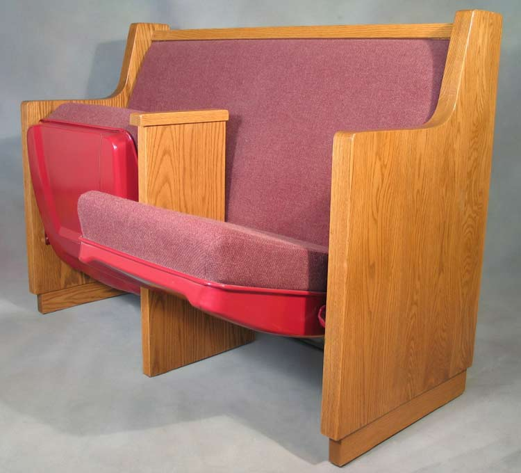 Marshall's Cathedral pew with armrest